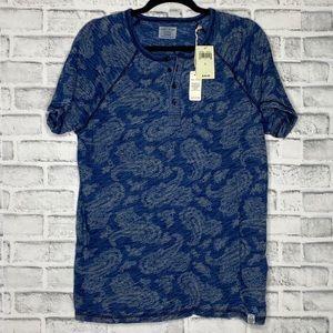 Lucky Brand Blue Paisley T Shirt